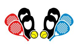 Padel match icon. Sport design vector illustration