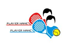 Padel match illustration. Creative design of Padel match illustration stock illustration