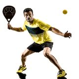 Padel tennis player man isolated white background royalty free stock image