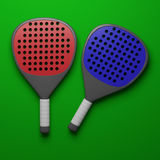 Padel tennis rackets. Royalty Free Stock Image