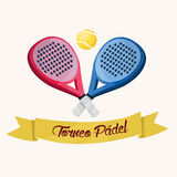 Padel tournament. Spanish text Royalty Free Stock Photos