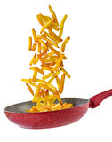 Padella nella Patate fritte Στοκ Εικόνα