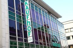Paderborn, Βεστφαλία northrine, Γερμανία, 25 05 18, οικοδόμηση ενός καταστήματος galeria kaufhof Στοκ εικόνα με δικαίωμα ελεύθερης χρήσης