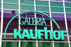 Paderborn, Βεστφαλία northrine, Γερμανία, 25 05 18, οικοδόμηση ενός καταστήματος galeria kaufhof Στοκ Εικόνες