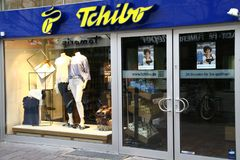 Paderborn, NRW, Γερμανία, 04 16 2018, κλάδος του tchibo GmbH, Στοκ εικόνα με δικαίωμα ελεύθερης χρήσης