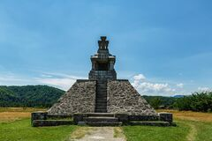 """Pades Proclamation Monument on """"The plain of freedom"""" july 16, 2020 in Pades"""