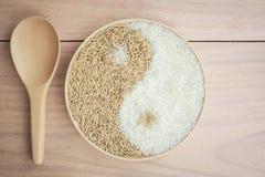 Padie en rijst in plante Royalty-vrije Stock Foto