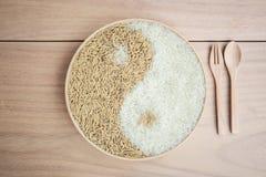 Padie en rijst in plante Royalty-vrije Stock Afbeeldingen