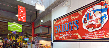 Padie` s Markten Sydney New South Wales Australia Royalty-vrije Stock Foto's