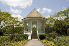 Padiglione ai giardini botanici di Singapore Fotografia Stock Libera da Diritti