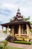Padiglione antico di Wat Sisaket Monastery a Vientiane, Laos immagine stock