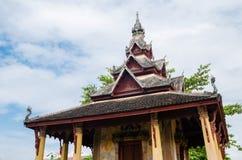Padiglione antico di Wat Sisaket Monastery a Vientiane, Laos immagine stock libera da diritti