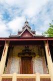 Padiglione antico di Wat Sisaket Monastery a Vientiane, Laos fotografia stock