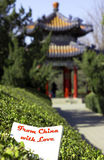 Padiglione cinese Fotografia Stock Libera da Diritti
