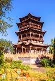 Padiglione classico cinese di costruzione-Wenchang del giardino di Fengming College Immagine Stock Libera da Diritti
