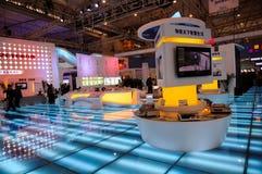 Padiglione con il pavimento di vetro, 2013 WCIF Immagine Stock