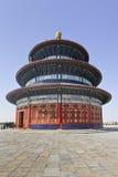 Padiglione decorato al tempio del cielo, Pechino, Cina Immagine Stock