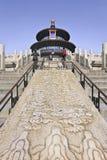 Padiglione decorato al tempio del cielo, Pechino, Cina Fotografia Stock