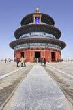 Padiglione decorato al tempio del cielo, Pechino, Cina Immagini Stock Libere da Diritti