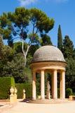 Padiglione del Danae al parco del labirinto a Barcellona Fotografie Stock
