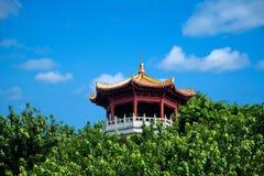 Padiglione del padiglione del parco di Sanya Nanshan Buddha Miao Jinshan Immagine Stock