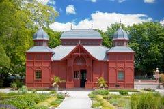 Padiglione del pubblico del giardino botanico di Zagabria Fotografia Stock