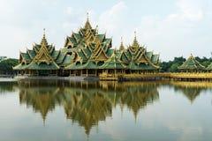Padiglione del Siam chiarito e antico fotografia stock libera da diritti