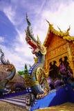 Padiglione del tempio e del Naga Immagine Stock Libera da Diritti