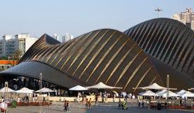 Padiglione dell'Expo del mondo degli Emirati Arabi Uniti Fotografie Stock Libere da Diritti
