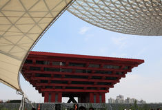 Padiglione della Cina dell'Expo del mondo di Schang-Hai Fotografie Stock