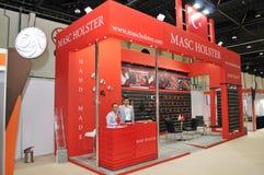 Padiglione della custodia per armi di Masc alla mostra 2013 dell'equites e di Abu Dhabi International Hunting Immagini Stock Libere da Diritti
