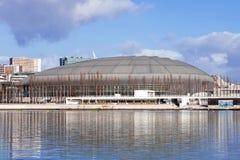Padiglione di Atlantico (Pavilhao Atlantico), attualmente chiamato arena di MEO, in parco delle nazioni fotografia stock libera da diritti