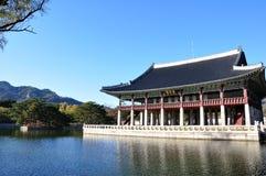 Padiglione di Gyeonghoeru, Seoul, Corea del Sud Fotografia Stock