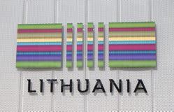 Padiglione 2015 di Milano Italia Lituania dell'Expo Fotografia Stock Libera da Diritti