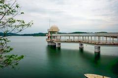 Padiglione di osservazione del lago Fotografia Stock Libera da Diritti