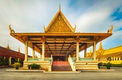Padiglione di Phochani dentro Royal Palace in Phnom Penh, Cambogia Panorama fotografia stock libera da diritti