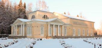 Padiglione di Rosa nel parco di Pavlovsky gennaio 2014 immagini stock
