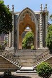 Padiglione gotico nel convento di San Nicolo l arena del ` fotografie stock libere da diritti