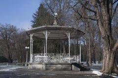 Padiglione nel parco Maribor della città in Slovenia Fotografia Stock Libera da Diritti