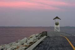 Padiglione nel tramonto crepuscolare Fotografie Stock