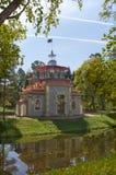 Padiglione nello stile cinese in Tsarskoe Selo Immagini Stock Libere da Diritti
