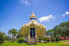 Padiglione (soldi) del padre santo della BO del pipistrello Wat Yang Khoi Kluea a Phichit Tailandia Fotografia Stock Libera da Diritti