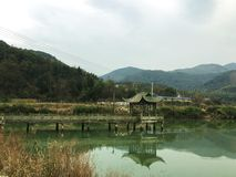 Padiglione sul lago Fotografia Stock Libera da Diritti