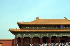 Padiglioni delle pagode all'interno del complesso del tempio del cielo a Pechino Immagini Stock Libere da Diritti