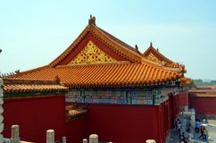 Padiglioni delle pagode all'interno del complesso del tempio del cielo a Pechino Fotografie Stock Libere da Diritti