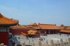 Padiglioni delle pagode all'interno del complesso del tempio del cielo a Pechino Immagine Stock Libera da Diritti