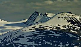 Padjelanta national park. Mountain covered with snow in padjelanta national park in sweden Stock Photos