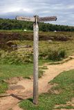 Padley Gorge Sign Post Stock Photos