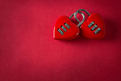 Padlock 2 влюбленностей Стоковые Фото