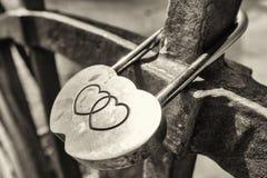 Padlock влюбленности Стоковая Фотография RF
